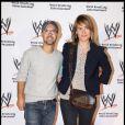 Judith Godrèche et Maurice Barthélémy lors de la soirée WWE RAW Live Tour, à Bercy, le 27/09/09