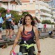"""Exclusif - Laure Manaudou - La championne de natation L.Manaudou organise et lance la 1er édition de sa course, la """"Swimrun"""" à Arcachon, France, le 23 juin 2019. Maintenant organisatrice de course avec son amie C.Gauzet, ancienne candidate de l'émission Koh-Lanta. Cette première édition de course et de nage était composée de 12 kilomètres de course dans le sable et 3 kilomètres de nage en mer. © Patrick Bernard/Bestimage"""