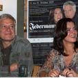 Katarina Witt et Rüdiger Joswig à la conférence de presse sur la pièce Jedermann à Berlin, le 28 septembre 2009