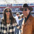 Matthew McConaughey et sa femme Camila Alves - People dans les paddocks du Grand Prix des États-Unis à Austin le 3 novembre 2019.