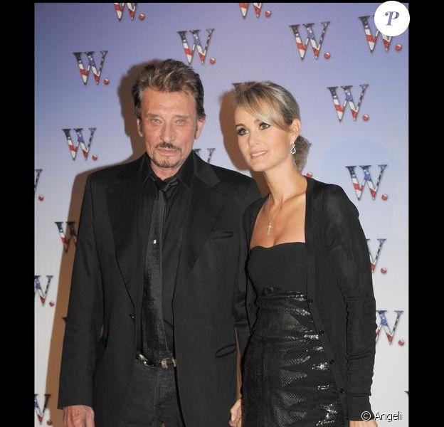 Johnny Hallyday et son épouse Laeticia