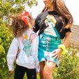 Alexandra (Koh-Lanta) et l'une de ses filles sur Instagram