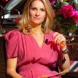 Sandrine Corman ( animatrice RTL ) lors de la 32ème édition du Télévie, l'opération de récolte de dons de RTL Belgium au profit du Fonds de la recherche scientifique (FNRS) pour aider la lutte contre la leucémie et le cancer. Belgique, Bruxelles, le 19 septembre 2020