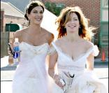 Teri Hatcher et Dana Delany sur le tournage de Desperate housewives