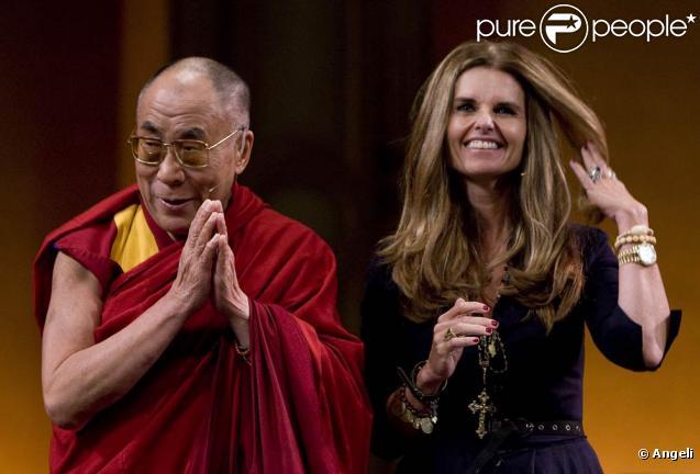Le Dalaï Lama et Maria Shriver le 29 septembre à Vancouver