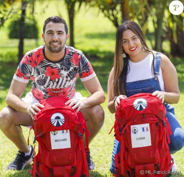 """Mounir et Lydia, candidats de """"Pékin Express"""", photo officielle de M6"""