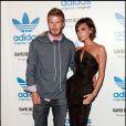 David et Victoria Beckham lors d'une soirée Adidas à Los Angeles le 30/09/09