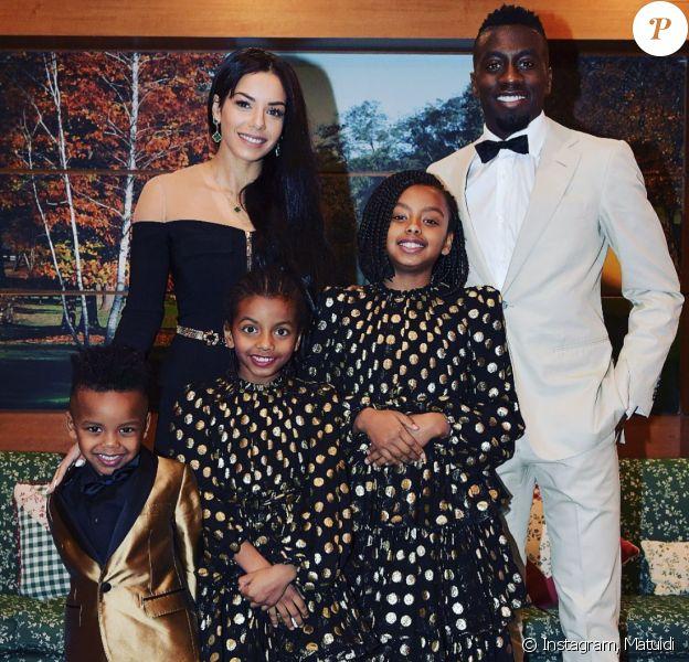 Blaise Matuidi, son épouse Isabelle Matuidi et leurs trois enfants