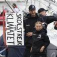 Pierre Casiraghi - Greta Thunberg arrive à New York le 28 août 2019. Greta Thunberg est partie le 14 août de Plymouth (Grande-Bretagne), avec son père, à bord d'un voilier de course zéro émission carbone, le Malizia II, skippé par P.Casiraghi, fils de la princesse Caroline de Monaco, et l'Allemand B.Herrmann.
