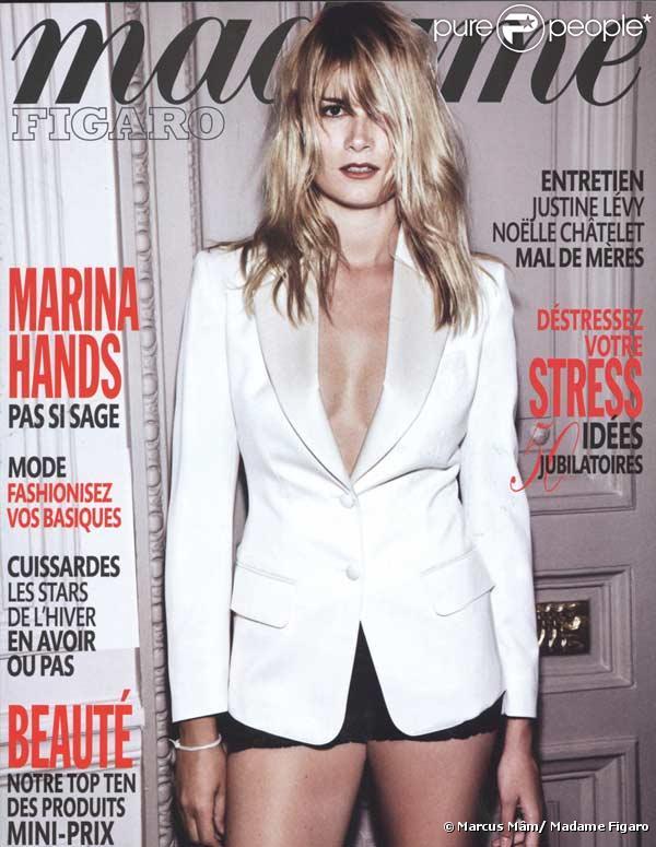 Marina Hands photographiée par Marcus Mâm pour la couverture du Madame Figaro du 3 octobre 2009.  Toute reproduction interdite.
