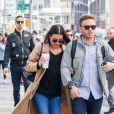 Exclusif - Premières photos de Lea Michele et Zandy Reich depuis leurs fiancailles le weekend dernier. Lea arbore fièrement sa bague de fiancailles! Le 1er mai 2018.