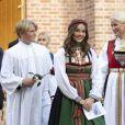 La princesse Mette-Marit de Norvège, la princesse Ingrid Alexandra de Norvège - Confirmation du prince Sverre Magnus à Asker Kirke (église) à Asker près d'Oslo le 5 septembre 2020.