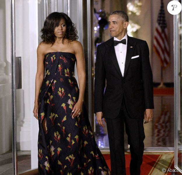 Barack Obama et Michelle Obama à la Maison Blanche