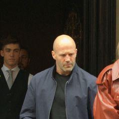 Exclusif - Jason Statham et sa femme Rosie Huntington-Whiteley sont allés dîner chez Scotts dans le quartier de Mayfair, à Londres, Royaume Uni, le 4 septembre 2020.