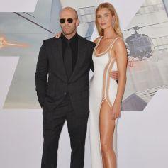 """Jason Statham et sa femme Rosie Huntington-Whiteley à la première du film """"Fast & Furious Hobbs & Shaw"""" à Los Angeles, le 13 juillet 2019."""