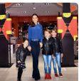 Jessica Mulroney, meilleure amie de Meghan Markle (duchesse de Sussex), avec ses enfants Ivy, Brian et John, photo Instagram du 25 octobre 2018.