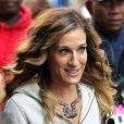 Sarah-Jessica Parker quitte le tournage de Sex And The City 2, sur la 5th Avenue à New-York le 17 septembre 2009