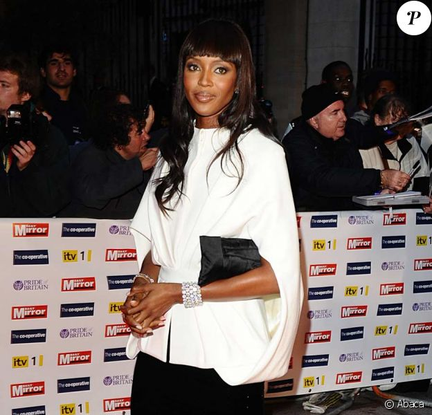 Naomi Campbell lors de la soirée Pride of Britain Awards 2009 au Grosvenor House à Londres le 5 octobre 2009