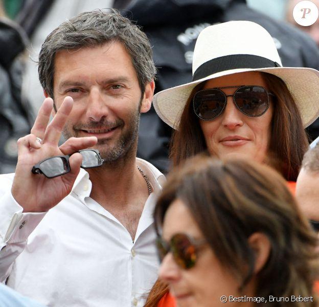 Franck Sémonin et sa femme Hélène lors de la Finale opposant Fabio Fognini à Dusan Lajovic durant le Rolex Monte Carlo Masters 2019 à Roquebrune Cap Martin. © Bruno Bebert/Bestimage