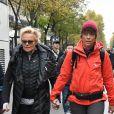 Muriel Robin et sa compagne Anne Le Nen - De nombreuses artistes et personnalités marchent contre les violences sexistes et sexuelles (marche organisée par le collectif  NousToutes) de place de l'Opéra jusqu'à la place de la Nation à Paris le 23 Novembre 2019 © Coadic Guirec / Bestimage