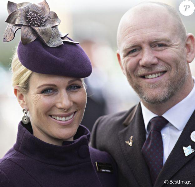 Zara Phillips (Zara Tindall) et son mari Mike Tindall - Arrivées au Festival Cheltenham.