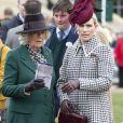 Camilla Parker Bowles, duchesse de Cornouailles, Zara Tindall - La famille royale lors des courses de chevaux du festival de Cheltenham le 11 mars 2020.