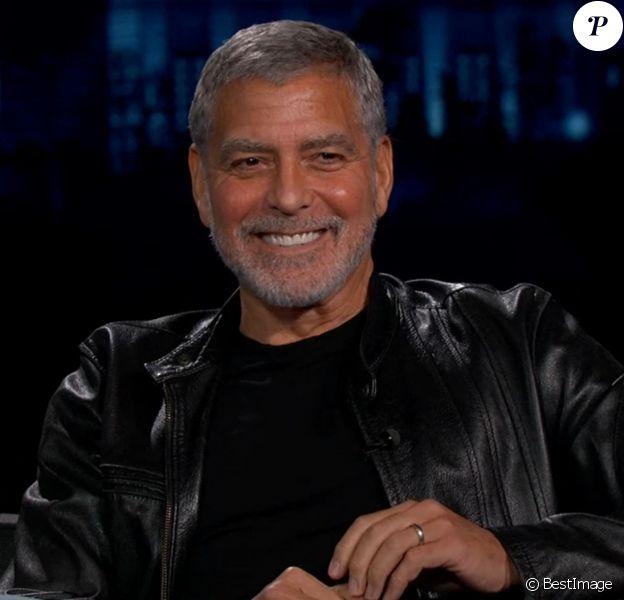 George Clooney dans l'émission Jimmy Kimmel Live! à Los Angeles