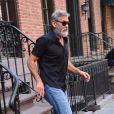 George Clooney sort de son domicile à New York, le 30 septembre 2019