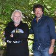 """Niels Arestrup et Patrick Bruel - Photocall du film """"Villa Caprice"""" - Festival du film Francophone d'Angoulême 2020. Le 1er septembre 2020. © Guirec Coadic / Bestimage"""
