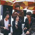 Archives- le groupe Téléphone lors du Festival de Cannes 1980 : Louis Bertignac, Corinne Marienneau, Jean-Louis Aubert et Richard Kolinka