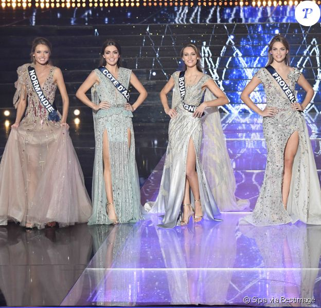 Les 5 finalistes de Miss France 2021.