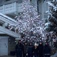 Zinédine Zidane, son épouse Véronique Zidane et leurs quatre fils, Enzo, Luca, Théo et Elyaz fêtent Noël en famille à la montagne. Décembre 2020.