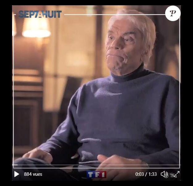 """Bernard Tapie dans """"Sept à huit"""", portrait de la semaine par Audrey Crespo-Mara diffusé le 27 décembre 2020 sur TF1."""
