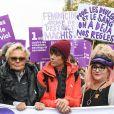 Muriel Robin et sa compagne Anne Le Nen, Marilou Berry, Julie Gayet - De nombreuses artistes et personnalités marchent contre les violences sexistes et sexuelles.