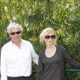 Marie-Anne Chazel et son compagnon Philippe Raffard - People à la première journée des internationaux de France de Roland-Garros. Le 27 mai 2012.
