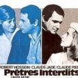 """Affiche du film """"Prêtres interdits"""" dans lequel Robert Hossein donnait la réplique à sa compagne décédée Michèle Watrin"""