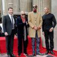 Jimmy Kimmel, Snoop Dogg, Quincy Jones, Dr. Dre - Snoop Dogg reçoit son étoile sur le Walk Of Fame à Hollywood, le 19 novembre 2018.