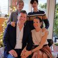 Tessy Antony de Nassau, ex-princesse de Luxembourg, en famille sur Instagram, décembre 2020.