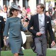 Le prince Louis et la princesse Tessy - Arrivees a la cathedrale pour le mariage religieux du prince Guillaume de Luxembourg et de la comtesse Stephanie de Lannoy à Luxembourg, le 20 octobre 2012.