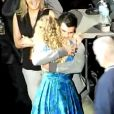 Taylor Swift en concert à Chicago le 9 octobre 2009, remerciant ensuite quelques fans et surtout, Taylor Lautner de Twilight...
