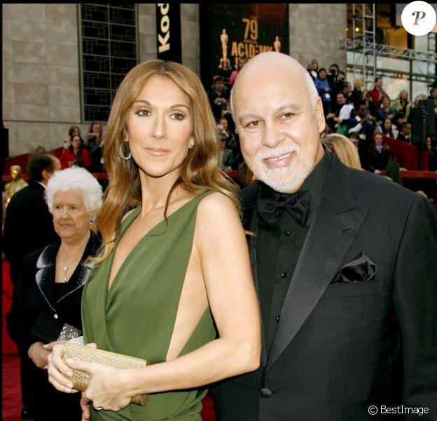 René Angélil et Céline Dion à la 79e cérémonie des Oscars