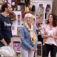 Faustine Bollaert dans Le meilleur pâtissier avec Cyril Lignac et Mercotte - M6