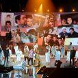 """Exclusif - Rayane Bensetti, son chien, ses amis Hichem, Thomas, Kendji Girac, Vitaa, son oncle Djafaar et son cousin Mohammed - Surprises - Enregistrement de l'émission """"La Chanson secrète 7 """" à la Scène musicale à Paris, qui sera diffusée le 15 janvier 2021 sur TF1. Après le succès des précédentes éditions, """" LA CHANSON SECRETE """", présentée par N.ALIAGAS et produite par DMLS TV, revient sur TF1. 8 artistes ne savent rien de ce qui va se passer pour eux ! Ils ont accepté de jouer le jeu, de se laisser totalement surprendre, émouvoir, parfois même déstabiliser car ils vont découvrir en même temps que les téléspectateurs une surprise : une chanson qui leur est chère revisitée et réinterprétée par un artiste. Des mises en scène spectaculaires au service de l'émotion... Et des émotions fortes pour l'artiste assis dans le fauteuil grâce à la venue sur le plateau de proches et d'invités inattendus. Les téléspectateurs seront aux premières loges pour vivre ces moments d'intimité musicale rare. © Gaffiot-Moreau / Bestimage"""