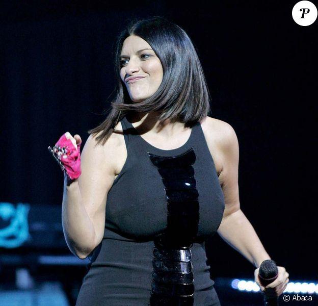 Laura Pausini en concert à Los angeles, le 14 octobre 2009.