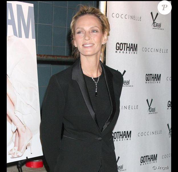 Uma Thurman lors de l'avant première de Motherhood le 14 octobre 2009 à New-York