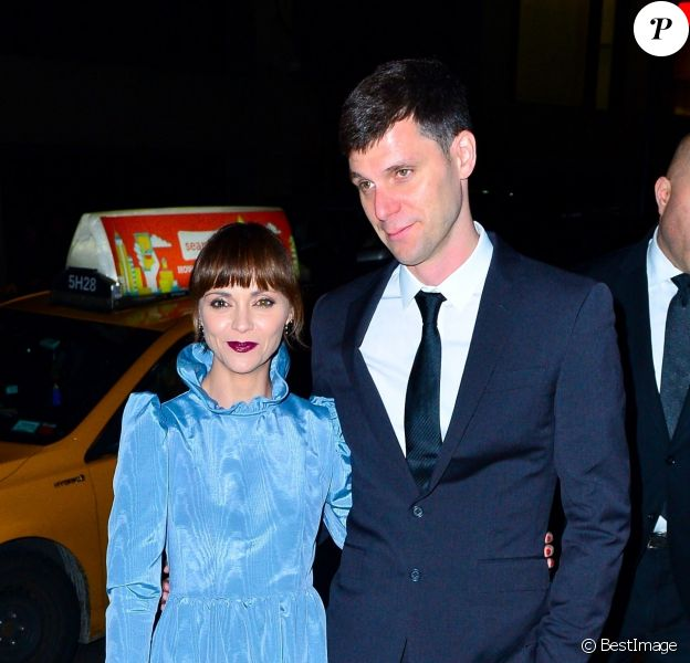 Christina Ricci et son mari James Heerdegen arrivent à la soirée de mariage de M. Jacobs et C. Defrancesco à New York