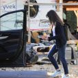 Jennifer Garner visite le chantier de sa nouvelle maison dans le quartier de Brentwood. Le 21 janvier 2021.