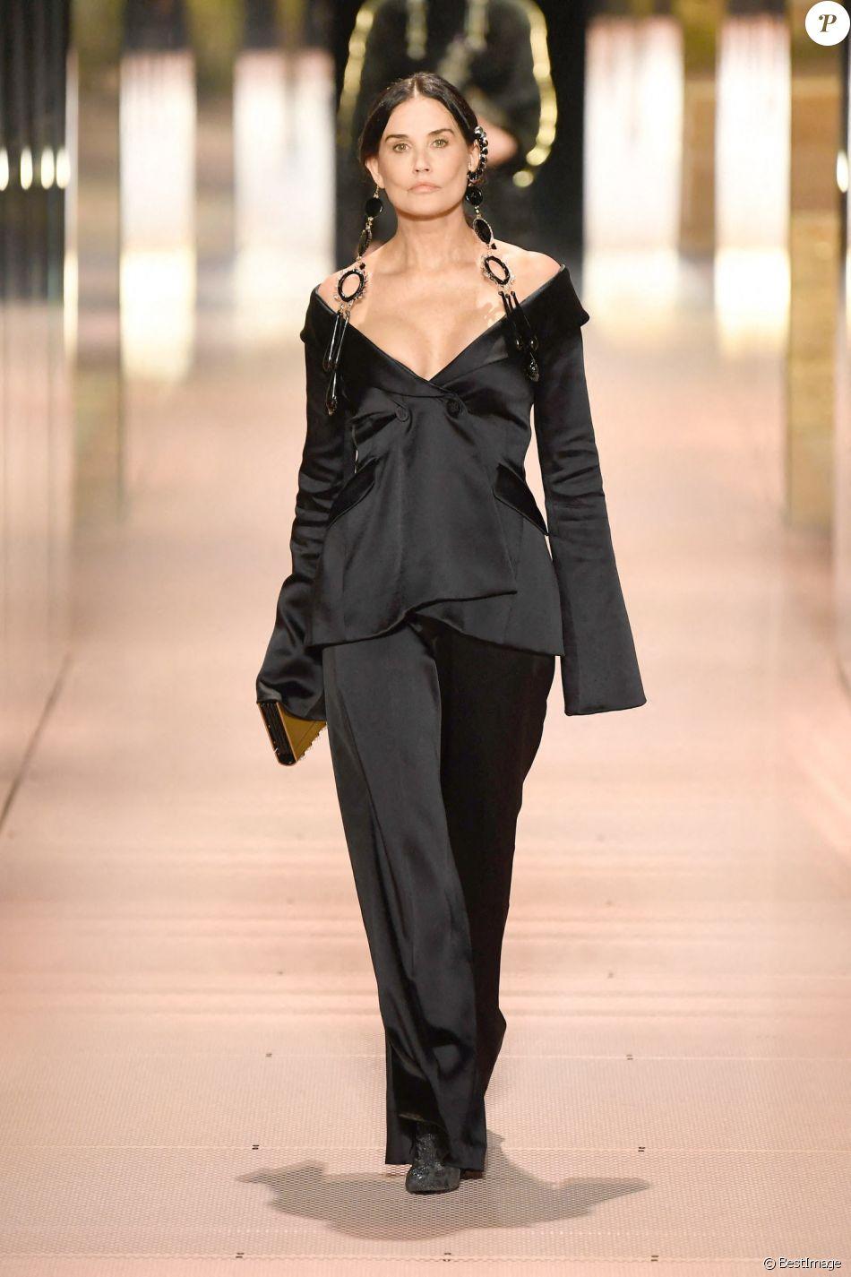 Demi Moore - Défilé Haute Couture Fendi collection printemps / été 2021 à Paris le 27 janvier 2021.
