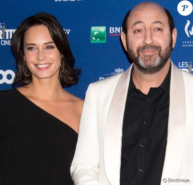 Kad Merad et sa compagne Julia Vignali - 6ème édition de la cérémonie des Magritte du cinéma à Bruxelles en Belgique.