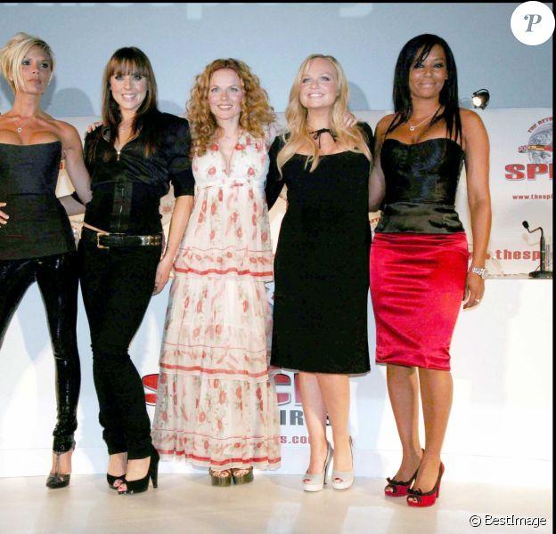 Les Spice Girls réunis à Londres.